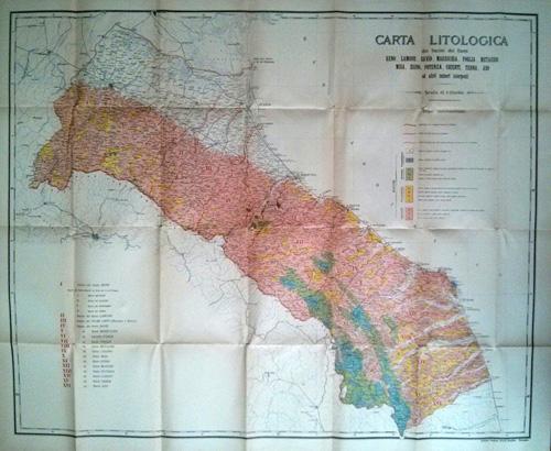 Ministero Agricoltura Industria Commercio Carta Litologica 1910