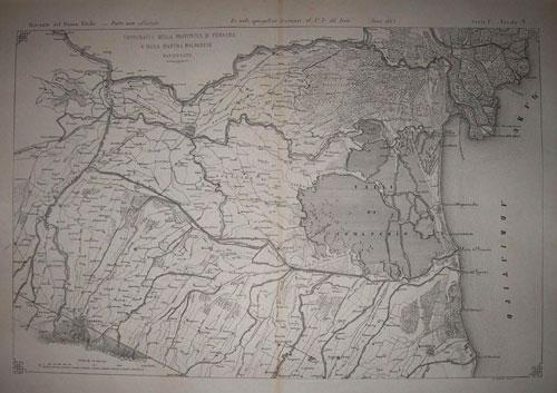 Genio Civile Topografia Ferrara Bologna e Ravenna 1865
