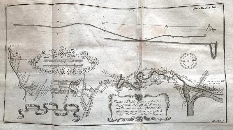 Bernardo Scrilli, Pianta e profilo Reno e Panaro, 1769