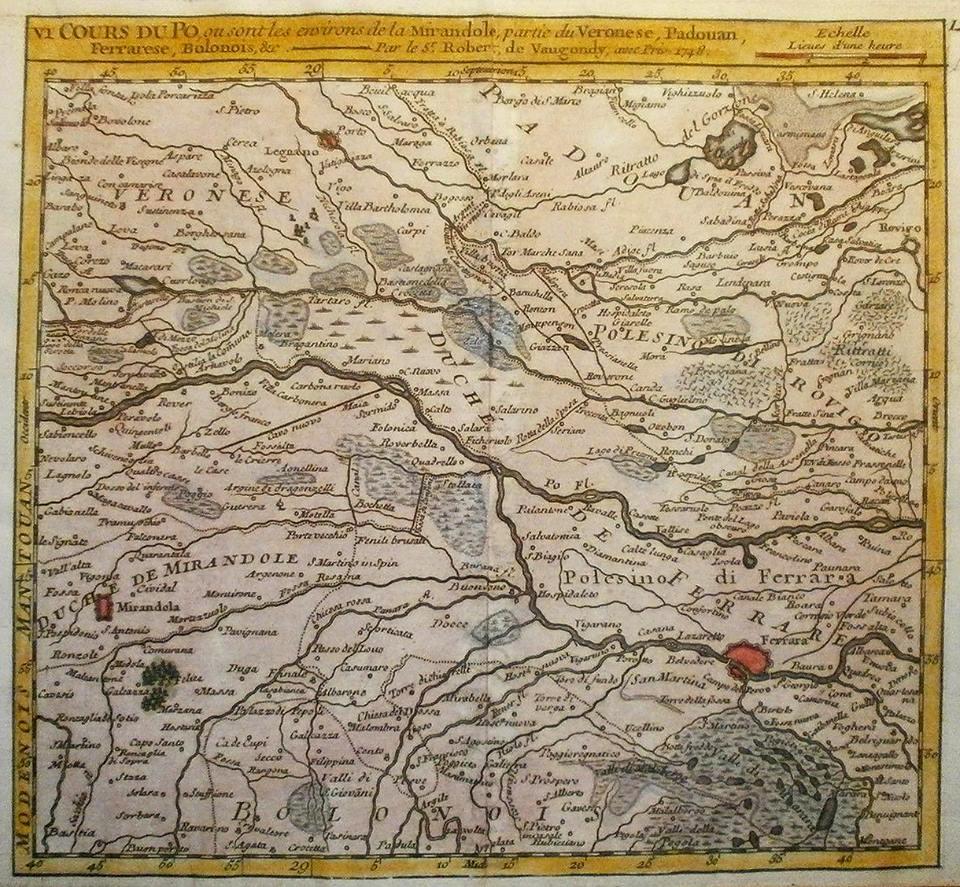 De Vaugondy Cours du Po 1748