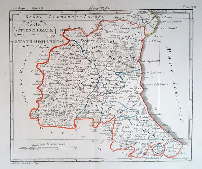 Parte settentrionale stati romani 1846